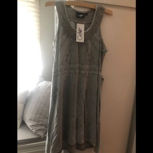 Stone washed sleeveless  summer dress